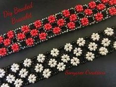 Right Angle Weave RAW embellished bracelet ~ Seed Bead Tutorials