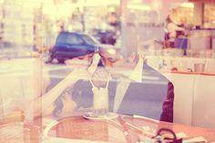Engagement photo idea - too cute! taken through the window.