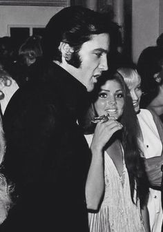 takingcare-of-business:  Elvis and Priscilla Presley attending Barbra Streisands concert, August 29th, 1969, Las Vegas, NV.