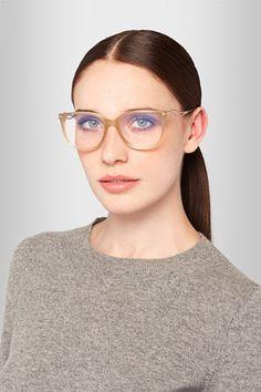 Victoria Beckham   Kitten cat-eye acetate optical glasses   NET-A-PORTER.COM