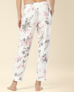 Ankle Pajama Pant Etched Floral - Soma