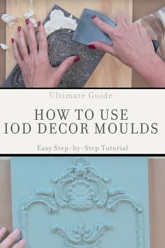 Learn the difference between IOD mould and IOD mold, and how to use decorative molds in DIY home decor, craft projects, Diy Furniture Appliques, Wood Appliques, Iron Orchid Designs, Air Dry Clay, Craft Materials, Furniture Makeover, Dresser Makeovers, Pipe Furniture, Furniture Vintage