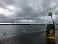 Ready for rain! #hatchesclosed #greyskies #abouttorain #budlightlime #photobydavidfeldt #provincetown #ptown #massachusetts