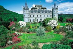 Inverary Castle is located on the shores of Loch Fyne and is one of Scotland's must-see sights. Scotland Travel, Glasgow Scotland, Loch Fyne, Holland America Line, Europe News, Spring Has Sprung, Palaces, Fairy Tales, Tourism