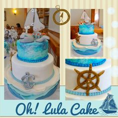 First communion boat cake