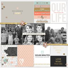 2015 Project Life Title page by lcpereyra using This New Year '15 by Sahlin Studio & Memory Pocket Monthly - Folio