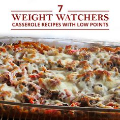 Weight Watchers Casserole Recipes with Low Points 7 Weight Watchers Casserole Recipes with Points! 7 Weight Watchers Casserole Recipes with Points! Ww Recipes, Skinny Recipes, Mexican Food Recipes, Cooking Recipes, Healthy Recipes, Recipies, Freezer Cooking, Pasta Recipes, Dinner Recipes