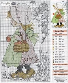 Cross Stitch : Sarah Kay Could someone tell me how I can make it bigger to print and still see symbols. Cross Stitch For Kids, Cross Stitch Love, Cross Stitch Flowers, Cross Stitch Charts, Cross Stitch Designs, Cross Stitch Patterns, Sarah Kay, Cross Stitching, Cross Stitch Embroidery