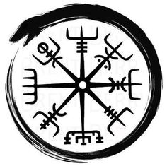 Serpent ouroboros with vegvisir
