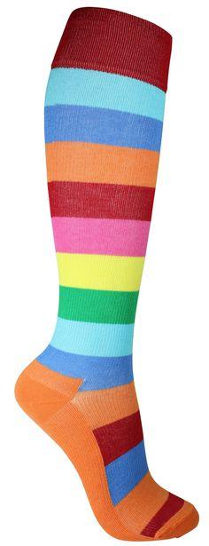 colorful compression socks | Colorful striped compression socks