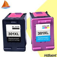 Hisaint auflistung 2 paket 301xl tintenpatrone ersatz für hp 301 xl CH563EE CH564EE für Deskjet 1000 1050 2000 2050 drucker