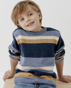 Baby Cardigan Knitting Pattern Free, Baby Boy Knitting Patterns, Christmas Knitting Patterns, Knitted Poncho, Knitting For Kids, Baby Knitting, Boys Sweaters, Garter Stitch, Baby Scarf