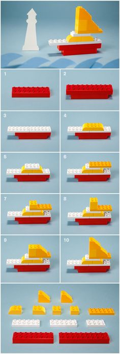 Atmosphere getting tense with your preschooler? Build this LEGO® DUPLO® DIY sa… Atmosphere getting tense with your preschooler? Build this LEGO® DUPLO® DIY sailboat together to steer you out of troubled waters. Legos, Nave Lego, Lego Therapy, Activities For Kids, Crafts For Kids, Preschool Crafts, Diy Crafts, Lego Boat, Lego Challenge