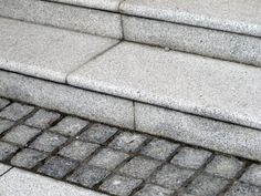 Granite steps - simple form but lasting quality.