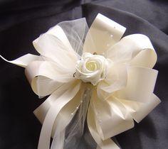 Wedding Pew Bows with Flowers   ... /Silk Wedding Flowers & Organza Pew Bows - Online Shop - Bows