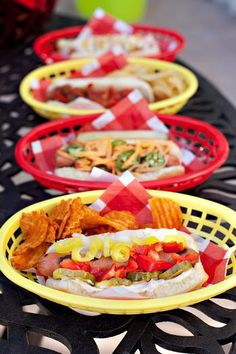 Hostess with the Mostess® - Summer BBQ - Hot Dog Station