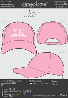 Sigma Kappa cap - perfect for Spring Break and summer!