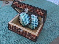 Minecraft Perler Bead Double Chest with Pixelated Diamonds by angelferret