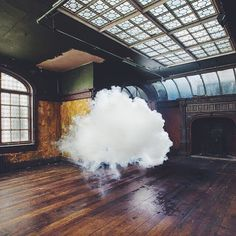 Clouds created indoors by artist Berndnaut Smilde #berndnautsmilde #dcnart via @oftheafternoon