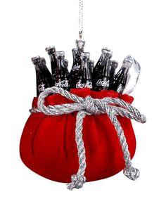 Look at this #zulilyfind! Santa's Bag Coca-Cola Ornament #zulilyfinds