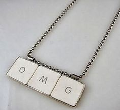 Recycled Keyboard Creative Jewelry Collection