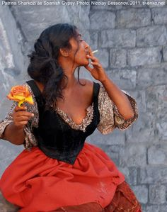 Spanish Gypsy - I love the devil may care and beauty mix she exudes in this
