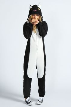 Missy Mysterious Cat Animal Onesie - I would rock this onesie. want.