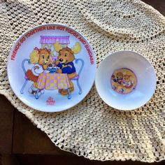 The Get Along Gang Plate and Bowl Set  1984 by MyVintagePoint