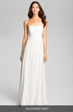 Women's Jenny Yoo Sweetheart Neckline Layered Chiffon Gown