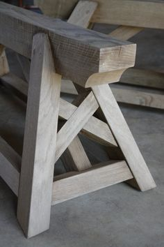 Oak Trestle: great look for any top- wooden farm table,industrial (galvanized),or heavy glass