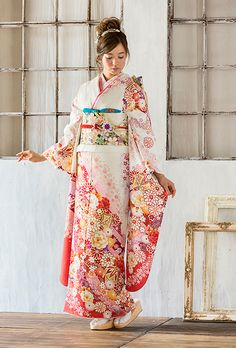 NO.1725 正絹 京友禅|成人式の振袖販売、振袖レンタルの京都きもの友禅