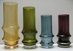 Reimari-vase by Tamara Aladin, Riihimäen Lasi (70's). Finally got blue one for myself ♥ Love it