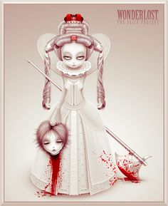 """""""Off With Her Head!"""" The Queen of Hearts, by Raymond Sepulveda, from the series, """"Wonderlost: The Alice Project"""""""