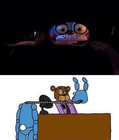 Five Nights at Freddy's 2 My god >>> this is creepier than toy bonnie just walking acrosss Five Nights At Freddy's, Animatronic Fnaf, Fnaf Night Guards, Scary Games, Fnaf Sl, Fnaf Wallpapers, Fnaf Sister Location, Fnaf Characters, Fictional Characters