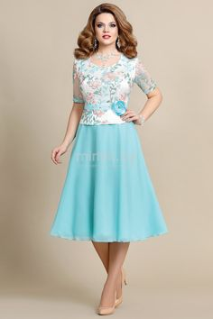 Платье Mira Fashion, голубой (модель 4221) — Белорусский трикотаж в интернет-магазине «Швейная традиция»