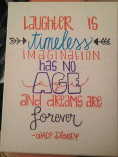 Walt Disney Canvas Quote by HeyKateCreations on Etsy: