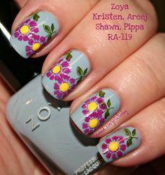 Nail Art using Zoya Nail Polish in Kristen, Areej, Shawn & Pippa from The Girly Tomboy