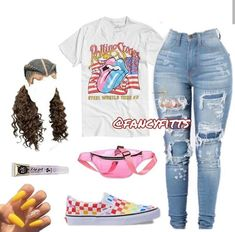 Source by AngelaMiaaaaa Outfits baddie Swag Outfits For Girls, Cute Teen Outfits, Cute Outfits For School, Teenage Girl Outfits, Cute Comfy Outfits, Teenager Outfits, Dope Outfits, Teen Fashion Outfits, Trendy Outfits