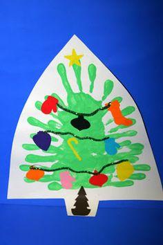 Handprint Chrismas Tree - great kid project