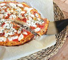 impasto per pizza senza glutine, senza lievito nè carboidrati