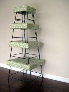 Furniture Mid Century Modern Nesting Footstools