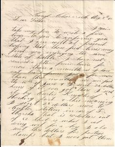 Civil War letter from Milton King to his father in Lowell, Ohio. page 1