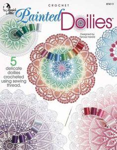 Crochet Painted Doilies by Ferosa Harold https://www.amazon.com/dp/1931171289/ref=cm_sw_r_pi_dp_U_x_hzAJAbYJY800C