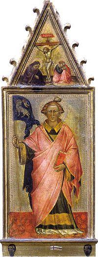 Spinello Aretino - Santo Stefano - tempera e oro su tavola -  1400-1405 circa - Galleria dell'Accademia a Firenze.