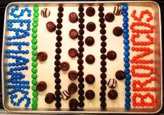 Super Bowl XLVIII cake - Seattle Seahwawks vs Denver Broncos