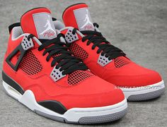 Air Jordan 4 Retro Fire Red/White-Black-Cement Grey. Share more Jordan release 2014 joy with my blog www.23isback.me .