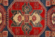 "Kazak Super Baku Medallion Hand-Knotted Rug 6' x 8'2"" | Floorplan Rugs"