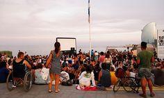 Cinema Lliure a la Platja runs on the beach in summer, and is free