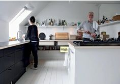 Loft Scandi kitchen.