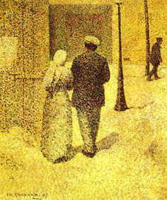 Charles Angrand Couple in the Street Art Print Stock Code : Georges Seurat, Charles Angrand, Art Gallery Paris, Grand Palais, Oil Painting Reproductions, Art Moderne, Manet, French Art, Whistler